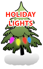HOLIDAY LIGHTS BUTTON