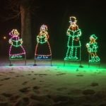 Four Carolers - Holiday Lights at Lindenwood Park Fargo ND