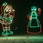 Mr. and Mrs. Clause - Holiday Lights at Lindenwood Park Fargo ND