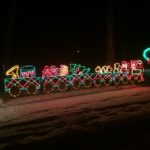 Train - Holiday Lights at Lindenwood Park Fargo ND